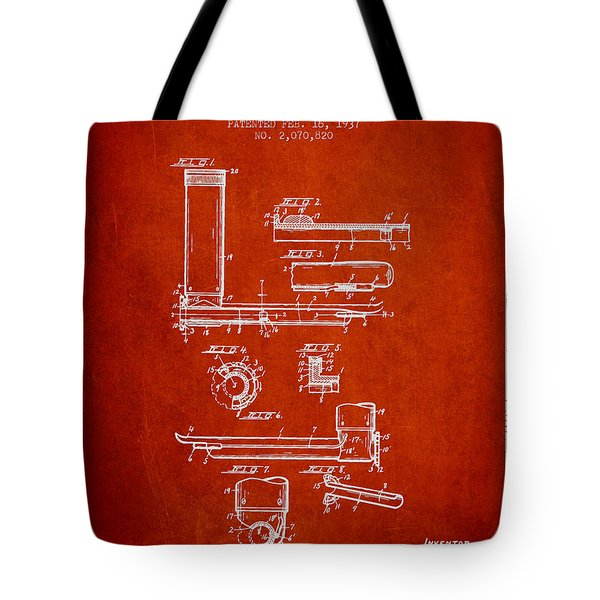 Laryngoscope Patent From 1937  - Red Tote Bag by Aged Pixel
