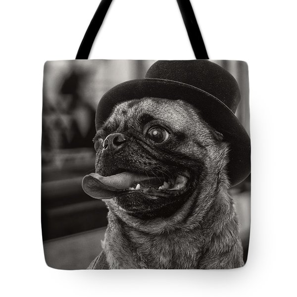 Last Call Pug Greeting Card Tote Bag by Edward Fielding