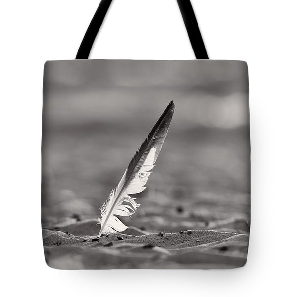 Last Days Of Summer In Black And White Tote Bag by Sebastian Musial