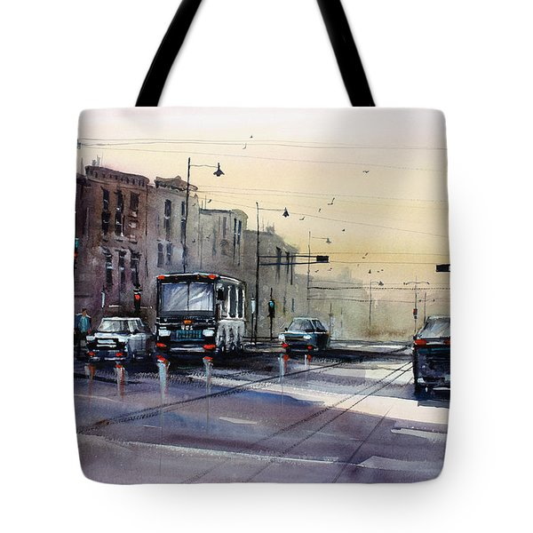 Last Light - College Ave. Tote Bag by Ryan Radke