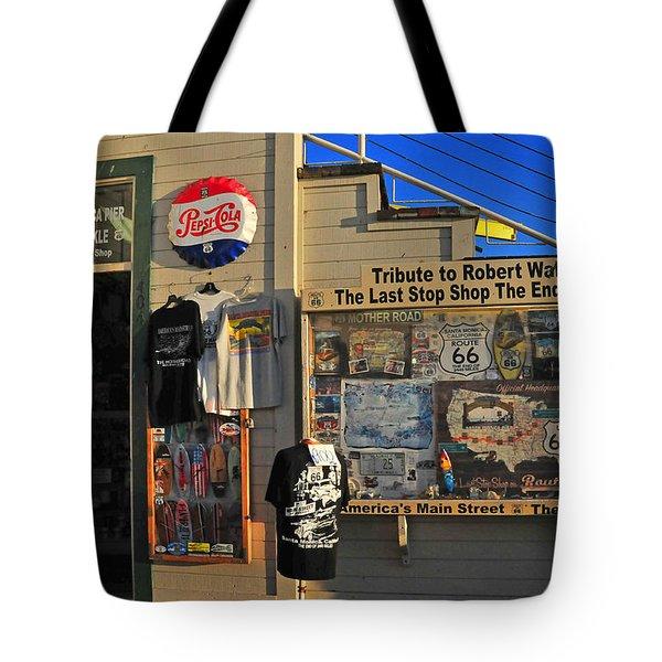 Last Stop Shop Tote Bag by Lynn Bauer