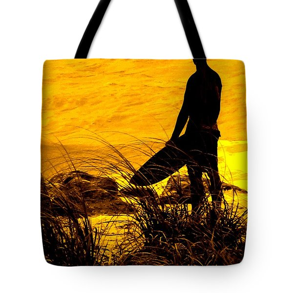 Last Surfer Standing Tote Bag by Ian  MacDonald
