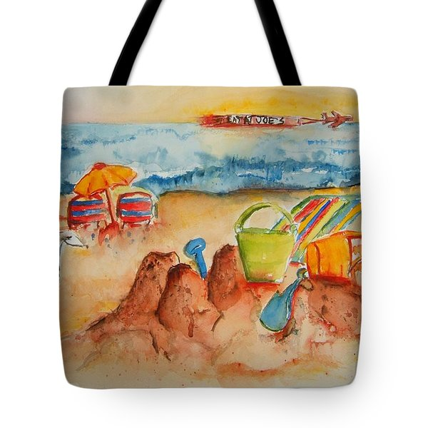 Late Afternoon Beach Tote Bag by Elaine Duras