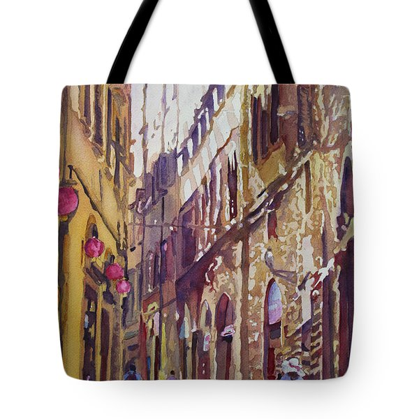 Late Afternoon In Florence Tote Bag by Jenny Armitage