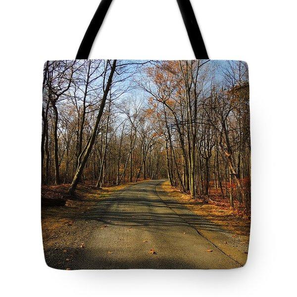 Late Fall At Cheesequake State Park Tote Bag by Raymond Salani III