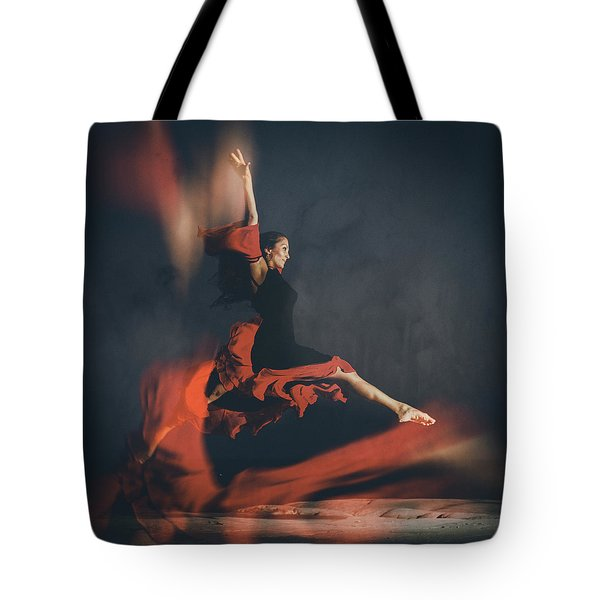 latin dancer Tote Bag by Stylianos Kleanthous