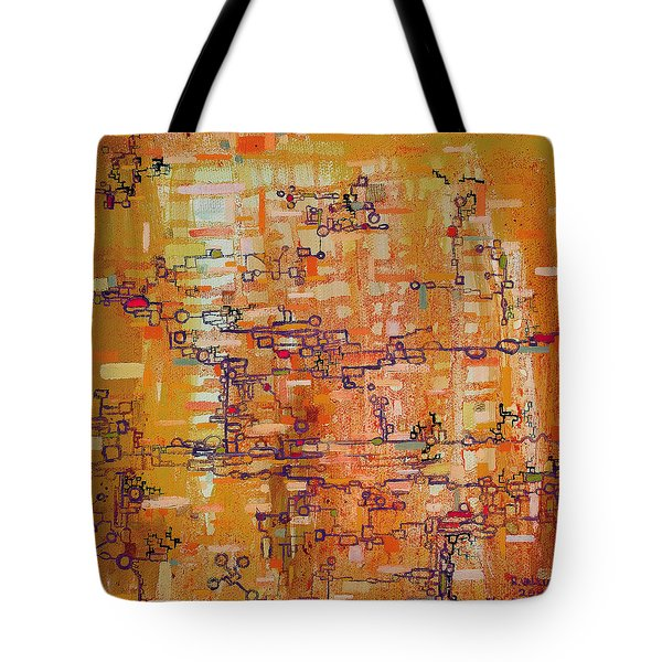 Lattice Animals Abstract Oil Painting by Regina Valluzzi Tote Bag by Regina Valluzzi