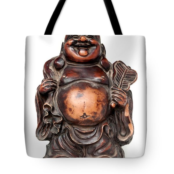 Laughing Buddha Tote Bag by Fabrizio Troiani