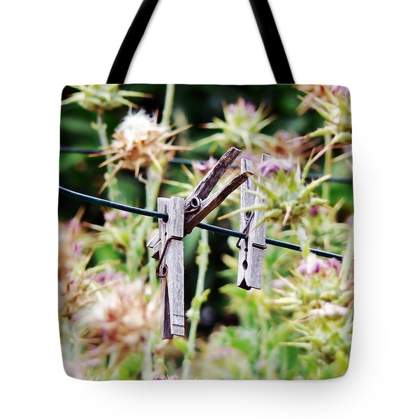 Laundry Day Forgotten Tote Bag by Pamela Patch
