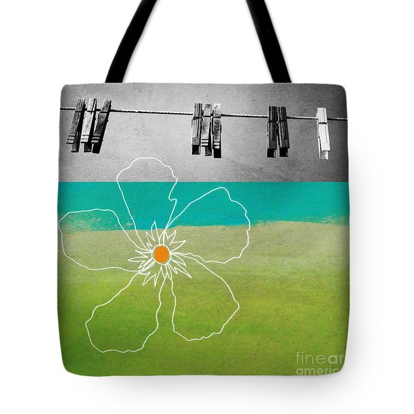 Laundry Day Tote Bag by Linda Woods