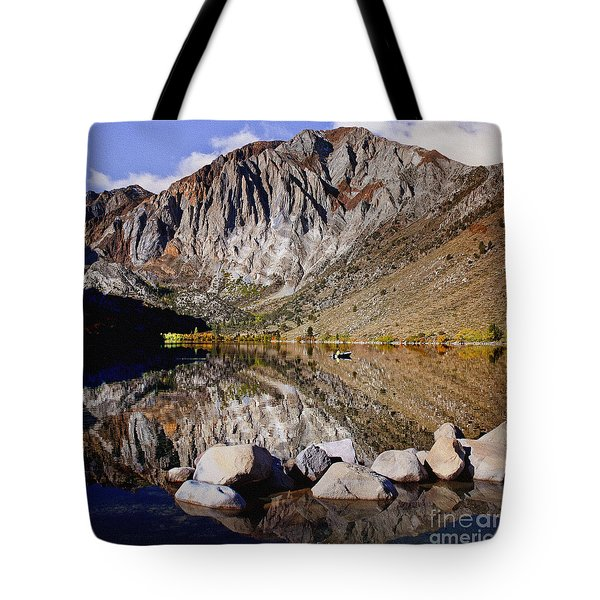 Laural Mountain Convict Lake California Tote Bag by Bob and Nadine Johnston