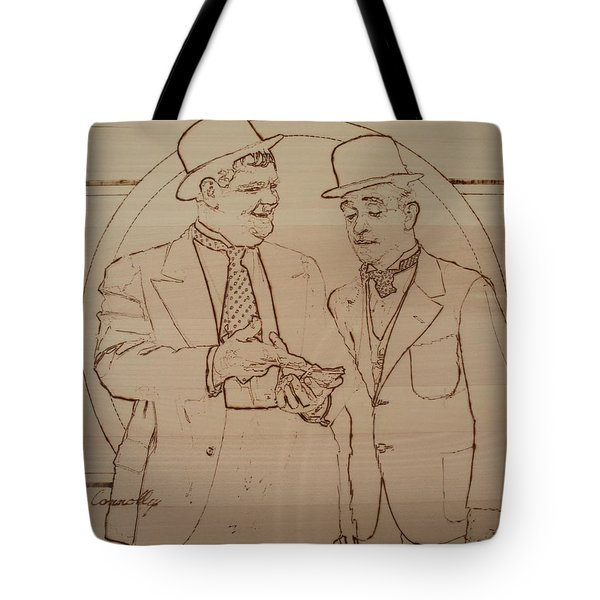 Laurel And Hardy - Thicker Than Water Tote Bag by Sean Connolly