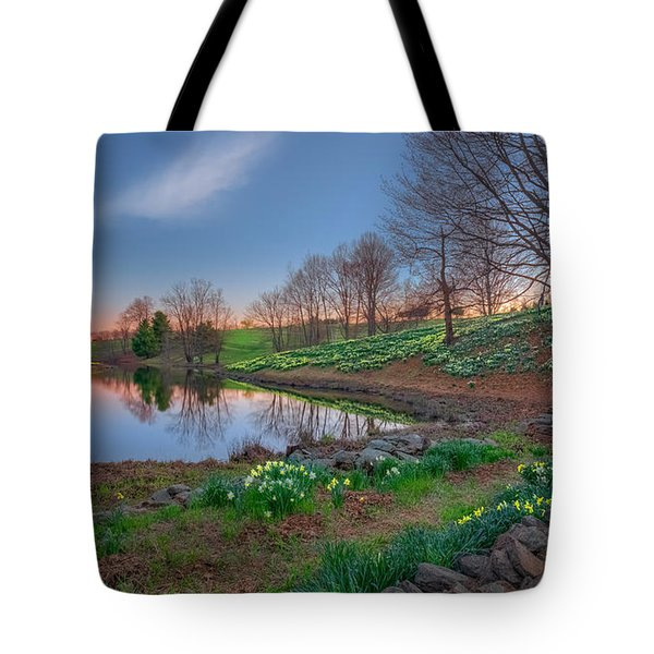 Laurel Ridge Sunset Tote Bag by Bill  Wakeley