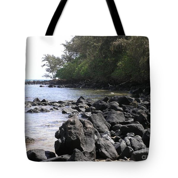 Lava Rocks Tote Bag by Mary Deal