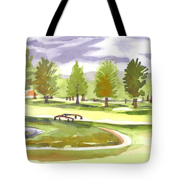 Lavender And Green Tote Bag by Kip DeVore