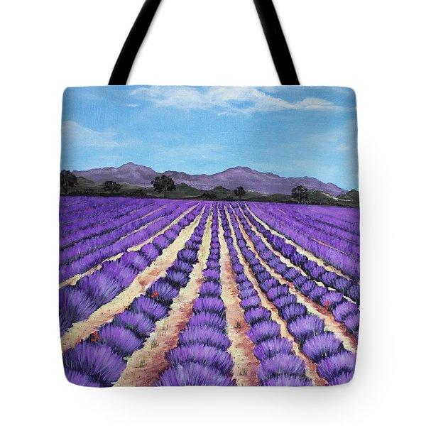 Lavender Field In Provence Tote Bag by Anastasiya Malakhova