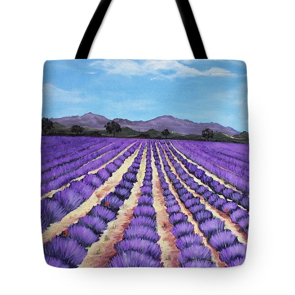 Lavender Field in Provence Tote Bag by Anastasiya Malakhova