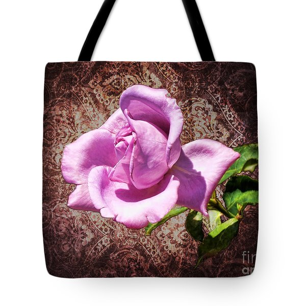 Lavender Rose Tote Bag by Mariola Bitner