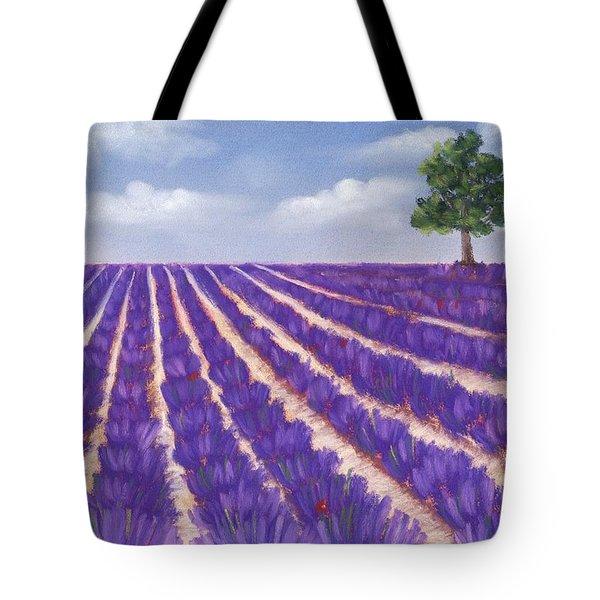 Lavender Season Tote Bag by Anastasiya Malakhova