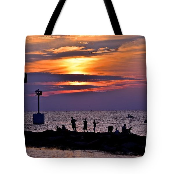 Lavender Sunset Tote Bag by Frozen in Time Fine Art Photography