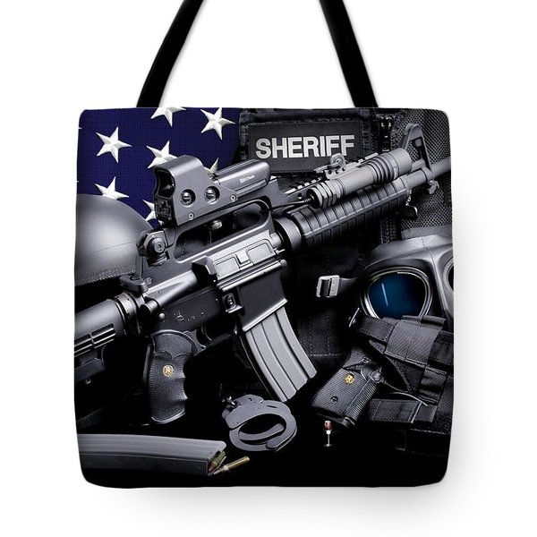 Law Enforcement Tactical Sheriff Tote Bag by Gary Yost
