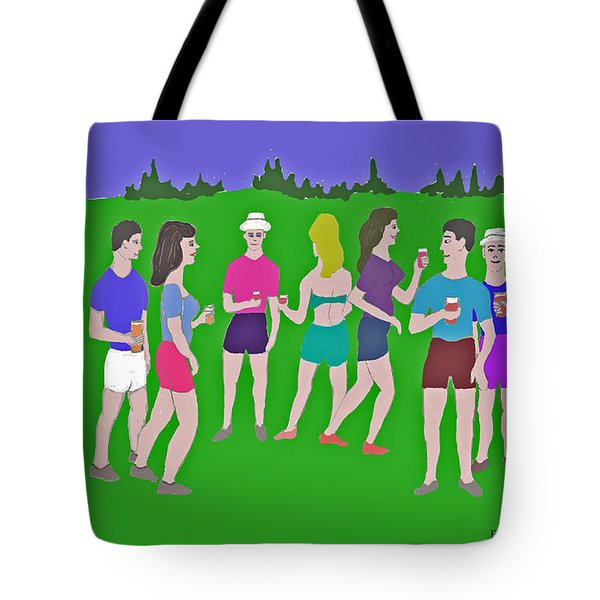 Lawn Party  Tote Bag by Fred Jinkins