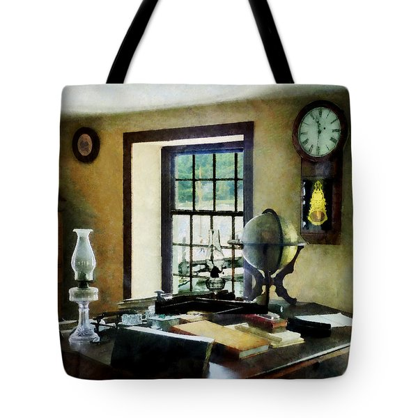 Lawyer - Globe Books and Lamps Tote Bag by Susan Savad