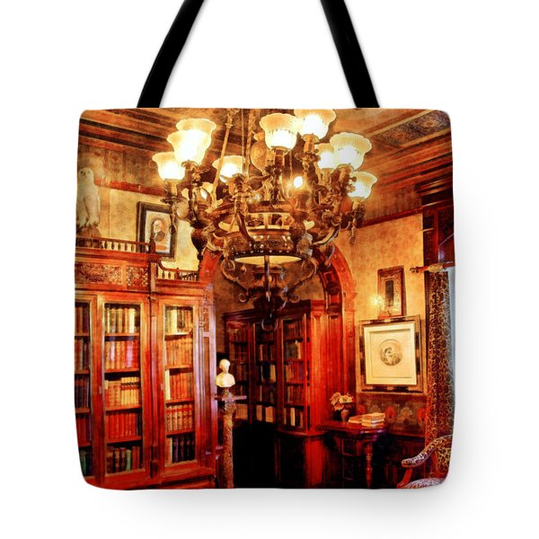 Lawyer - In the Library Tote Bag by Mike Savad