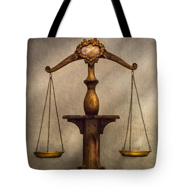 Lawyer - Scale - Fair and Just Tote Bag by Mike Savad