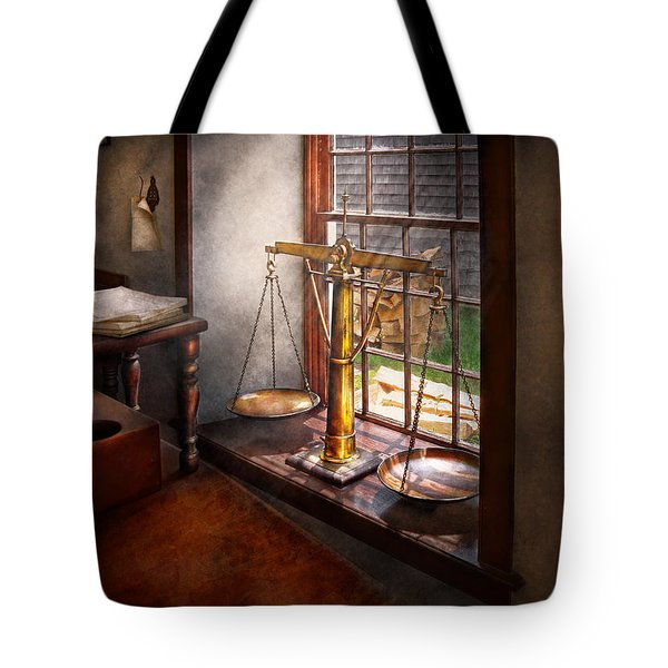 Lawyer - Scales of Justice Tote Bag by Mike Savad