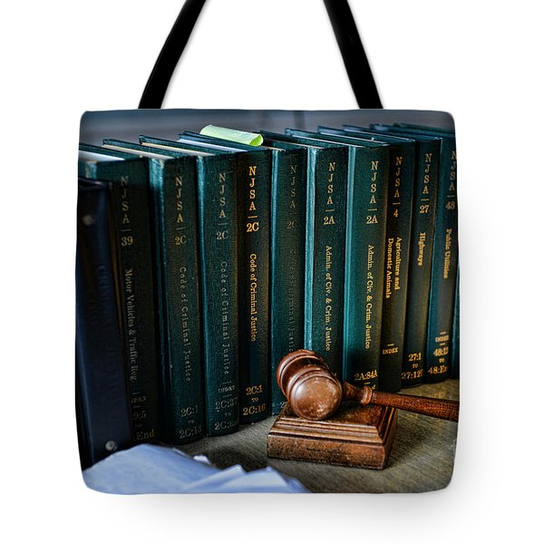 Lawyer - The Code of Criminal Justice Tote Bag by Paul Ward