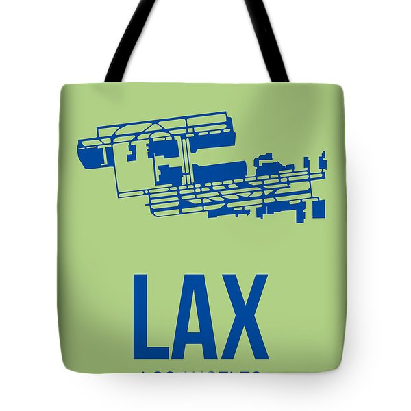 Lax Airport Poster 1 Tote Bag by Naxart Studio