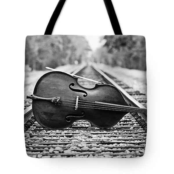 Laying Down Some Tracks Tote Bag by Scott Pellegrin