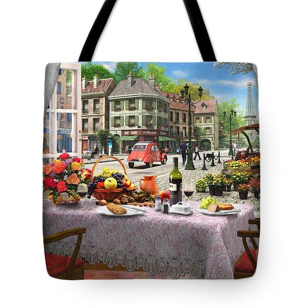 Le Cafe Paris Tote Bag by Dominic Davison