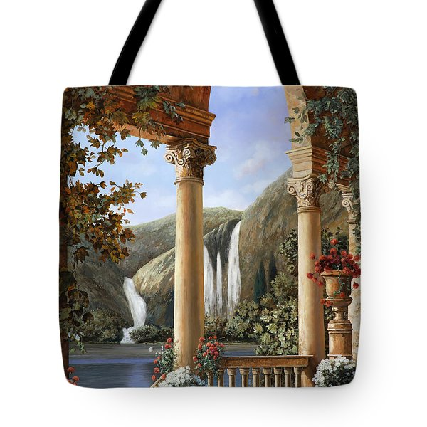 Le Cascate Tote Bag by Guido Borelli