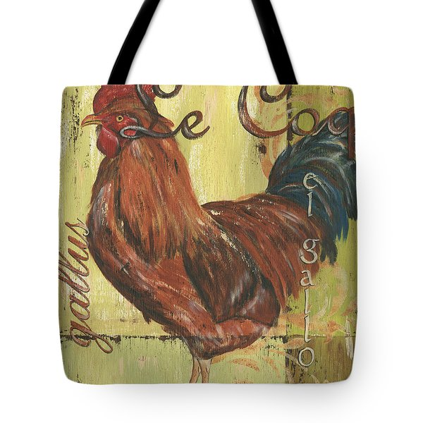 Le Coq Tote Bag by Debbie DeWitt