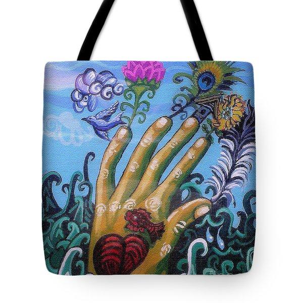 Le Destin Du Humain Tote Bag by Genevieve Esson