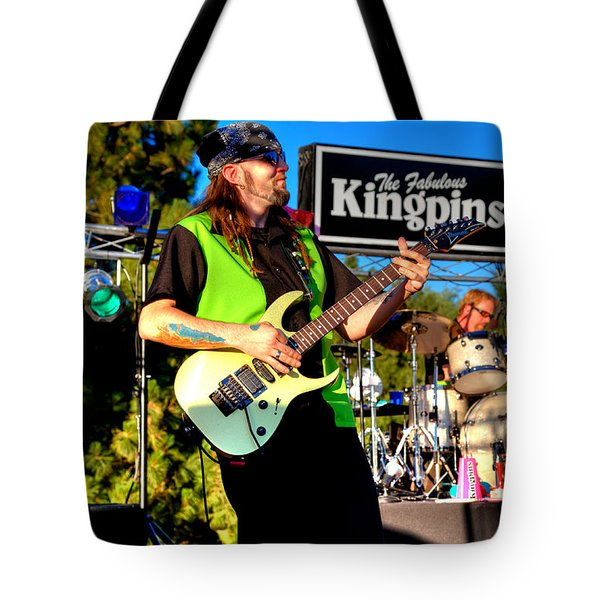 Lead Guitarist Jimmy Dence - The Fabulous Kingpins Tote Bag by David Patterson