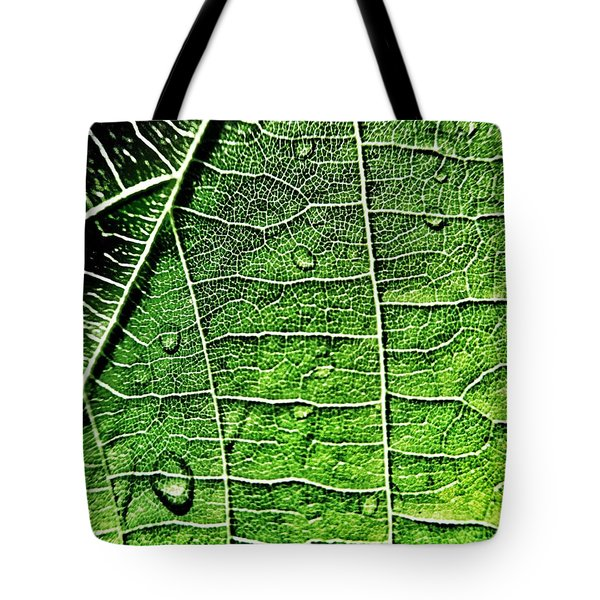 Leaf Abstract - Macro Photography Tote Bag by Marianna Mills