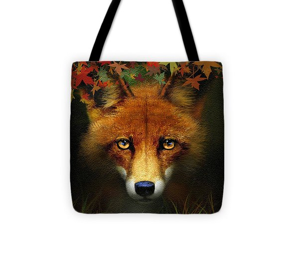 Leaf Fox Tote Bag by Robert Foster