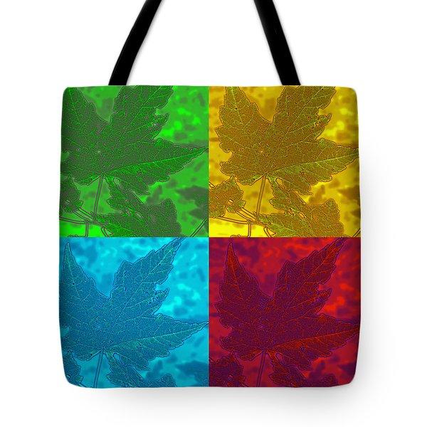 Leaf Pop Art Tote Bag by Barbara McDevitt