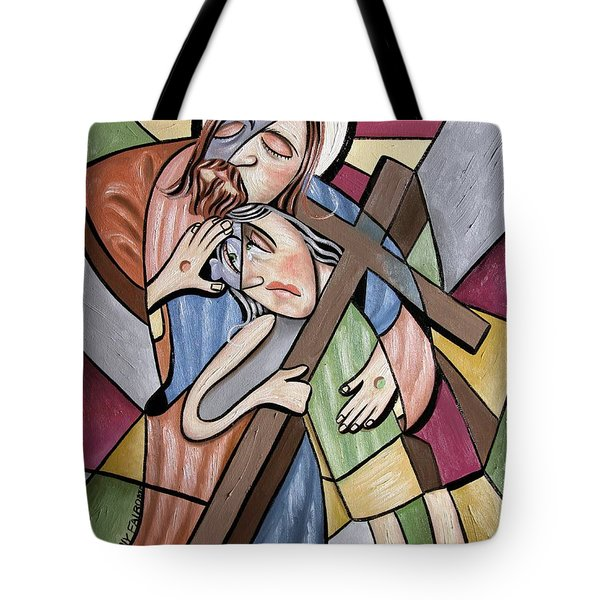 Lean On Me Tote Bag by Anthony Falbo