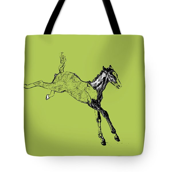 Leaping Foal Tote Bag by JAMART Photography