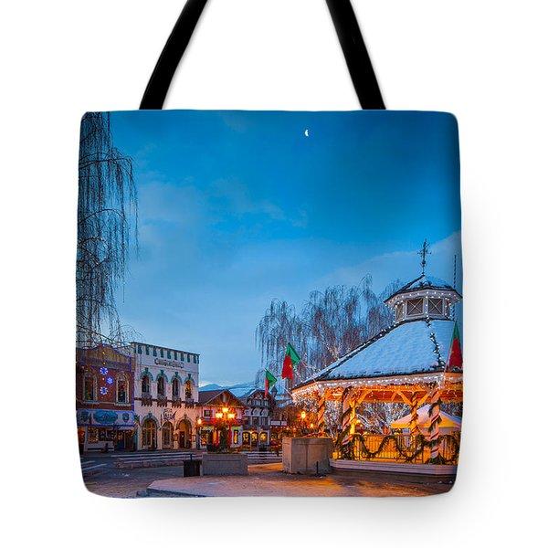 Leavenworth Christmas Moon Tote Bag by Inge Johnsson