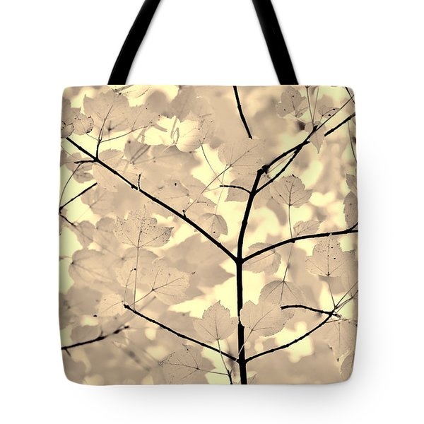 Leaves Fade to Beige Melody Tote Bag by Jennie Marie Schell