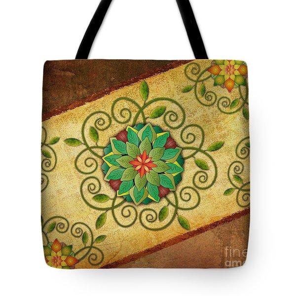 Leaves Rosette 1 Tote Bag by Bedros Awak