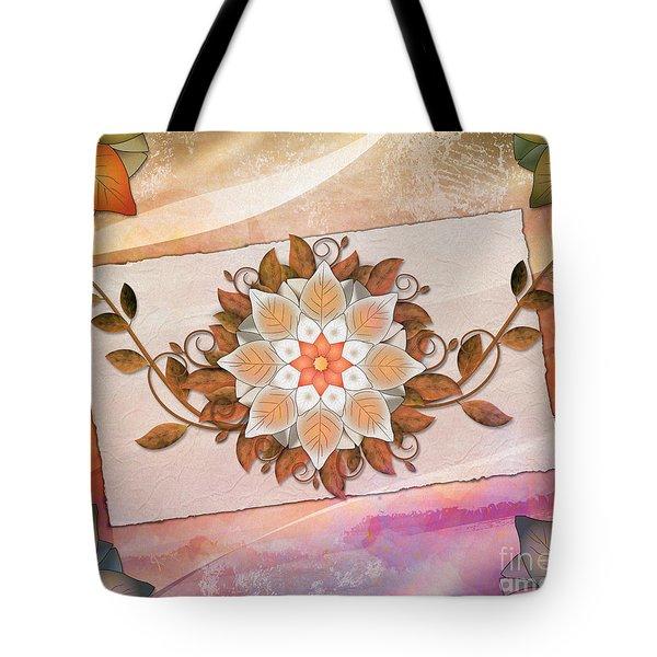 Leaves Rosette 2 Tote Bag by Bedros Awak