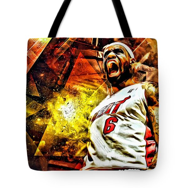LeBron James Art Poster Tote Bag by Florian Rodarte