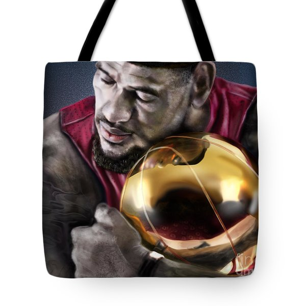 LeBron James - My Way Tote Bag by Reggie Duffie