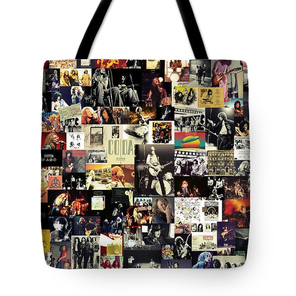 Led Zeppelin Collage Tote Bag by Taylan Soyturk